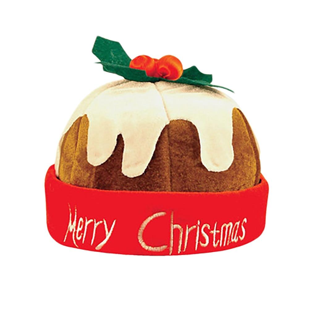 Xmas Beanie Hat Funny Adult Christmas Hat Santa Claus Felt Cap Adult Pumpkin Cap Gifts For Evening Party 1PC Unisex Gorros