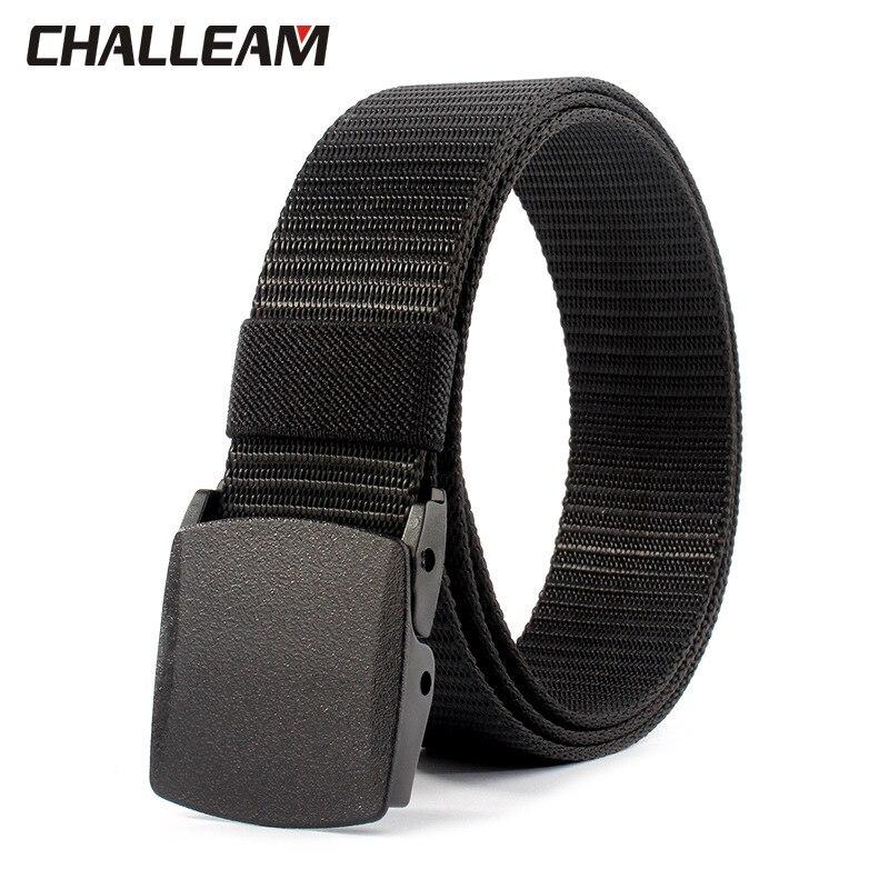 Tactical Belt Black Nylon Military Belt Adjustable Plastic Buckle Outdoor Belt Breathable Lightweight X204