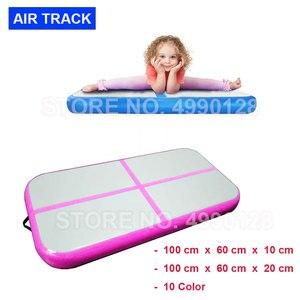 Free Shipping AirTrack 1X0.6X0.1M Air Track Inflatable Gymnastic Mattress Gym Tumble Floor Tumbling Air Block Mat Yoga Mat