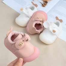 Winter Girl Princess Cotton Shoes Baby Girls Boots Baby Toddler Shoes 0-2 Years Old Toddler Shoes cheap rubber brother Leather Shallow Hook Loop Fits true to size take your normal size Solid