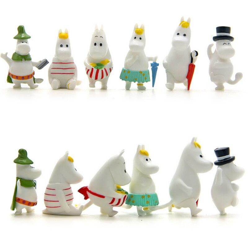 12 Pc Dollhouse Puzzle Cascade Hippopotamus Family Miniature Figures Jenga Micro Layer DIY Landscape PVC Model Creative Toy Gift-3