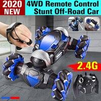 Coche todoterreno teledirigido 4WD RC, acrobático con Control de Radio, 2,4 GHz, inducción de gestos, serpenteante, todoterreno, juguete con luz y música