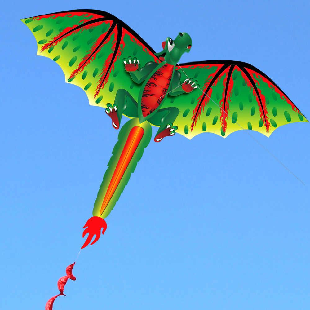 3d d-ragon k-ite criança brinquedo divertido ao ar livre voando atividade jogo crianças com cauda famliy crianças brinquedos kite voando ao ar livre