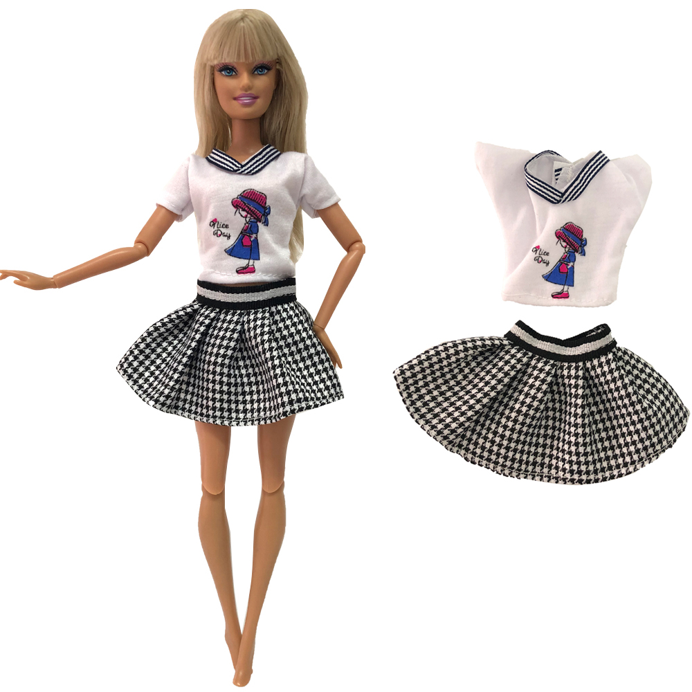 NK Newest Doll Dress Handmade Skirt Party Clothes Fashion Design Outfit For Barbie Doll Accessories Child Girls'Gift 279E 12X