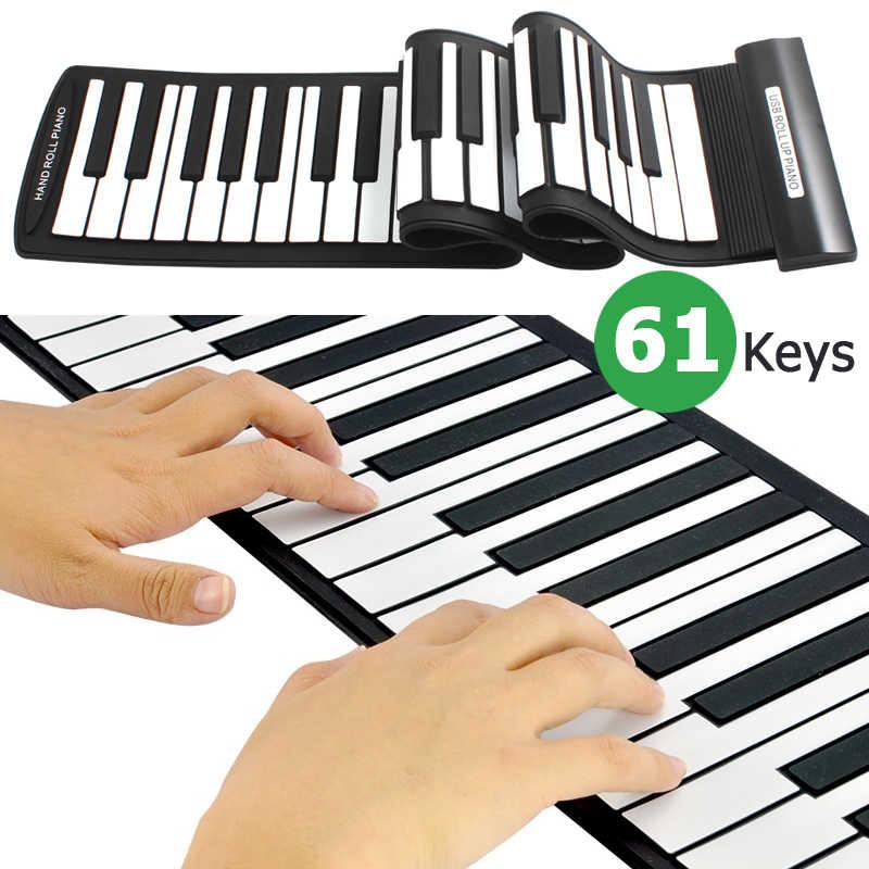 전자 오르간 MD61 유연한 61 키 전문 미디 키보드 전자 롤 피아노 어린이위한