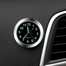 Mini horloge de voiture lumineuse à Quartz, numérique, ornement, accessoires de voiture, cadeaux