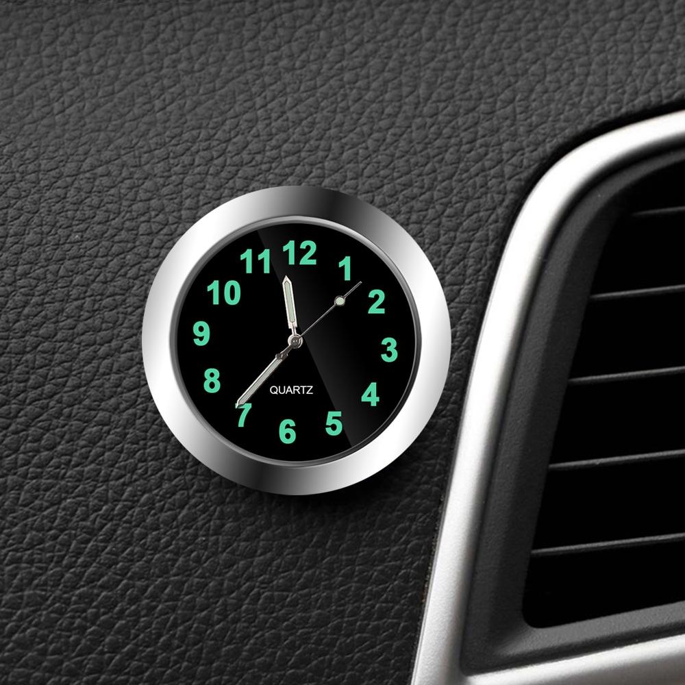 Relógio carro Luminosa Mini Automóveis Interno Vara On Digital Mecânica Relógio de Quartzo Relógios Auto Acessórios Do Carro Ornamento Presentes| |   -