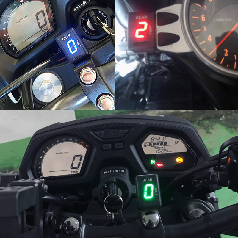 125 Motorcycle For Yamaha YZF R125 ABS 2015 2016 2017 2018 2019 Motorcycle LCD Electronics 1 6 Level Gear Indicator Digital in Instruments from Automobiles Motorcycles