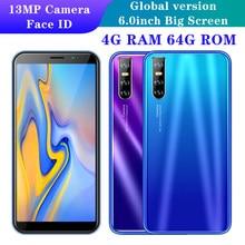 A21s 5mp + 13mp quad core face id desbloqueado smartphone global 6.0 polegada 4gb ram 64gb rom celular android barato celulares 3g wifi