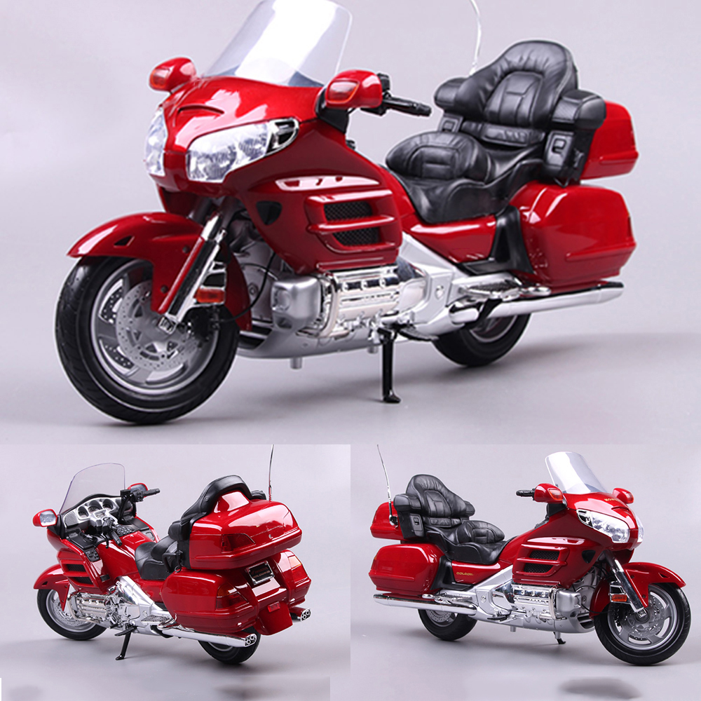 In Stock 1/6 Figure Scene Accessory <font><b>Motorcycle</b></font> <font><b>Model</b></font> Red Gold Wing Soldier Zinc Alloy Material for 12 Inches Action Figure image