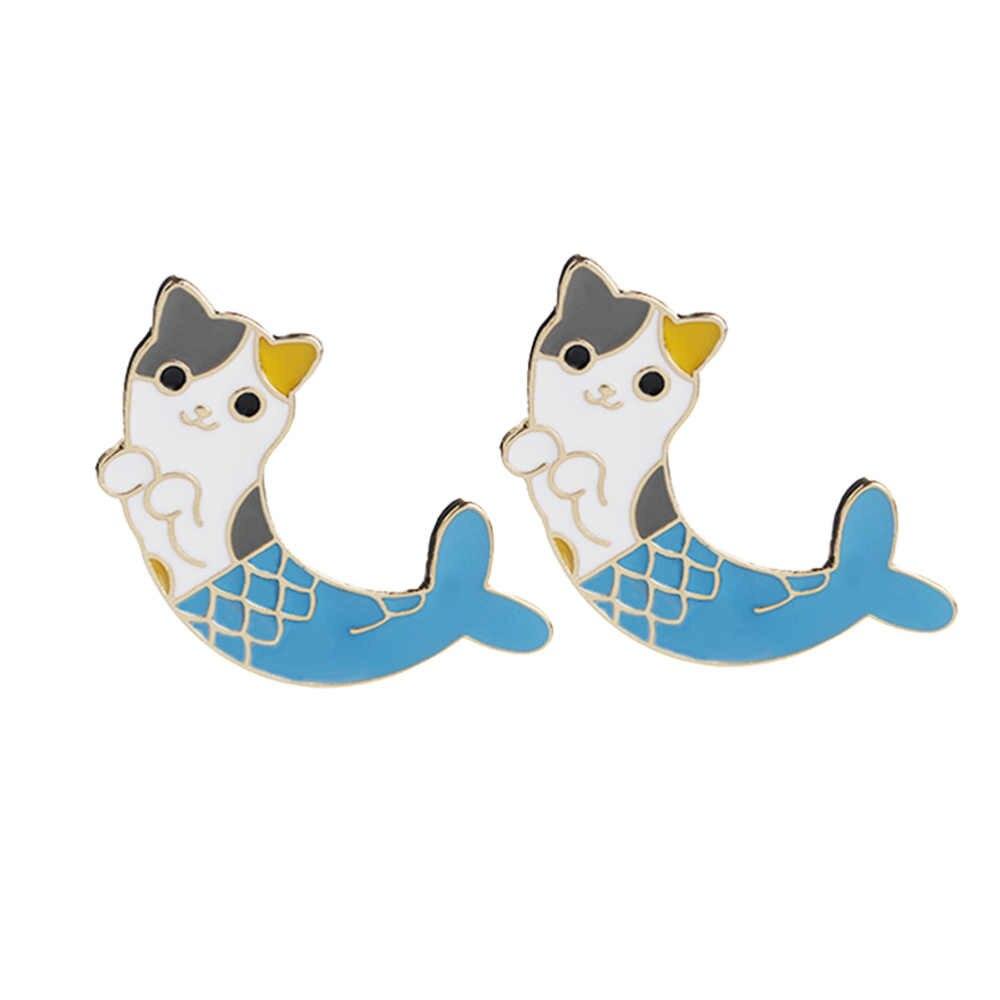 4pcs Mermaid Cat Brooch Jewelry Brooch Accessories Clothing Brooch
