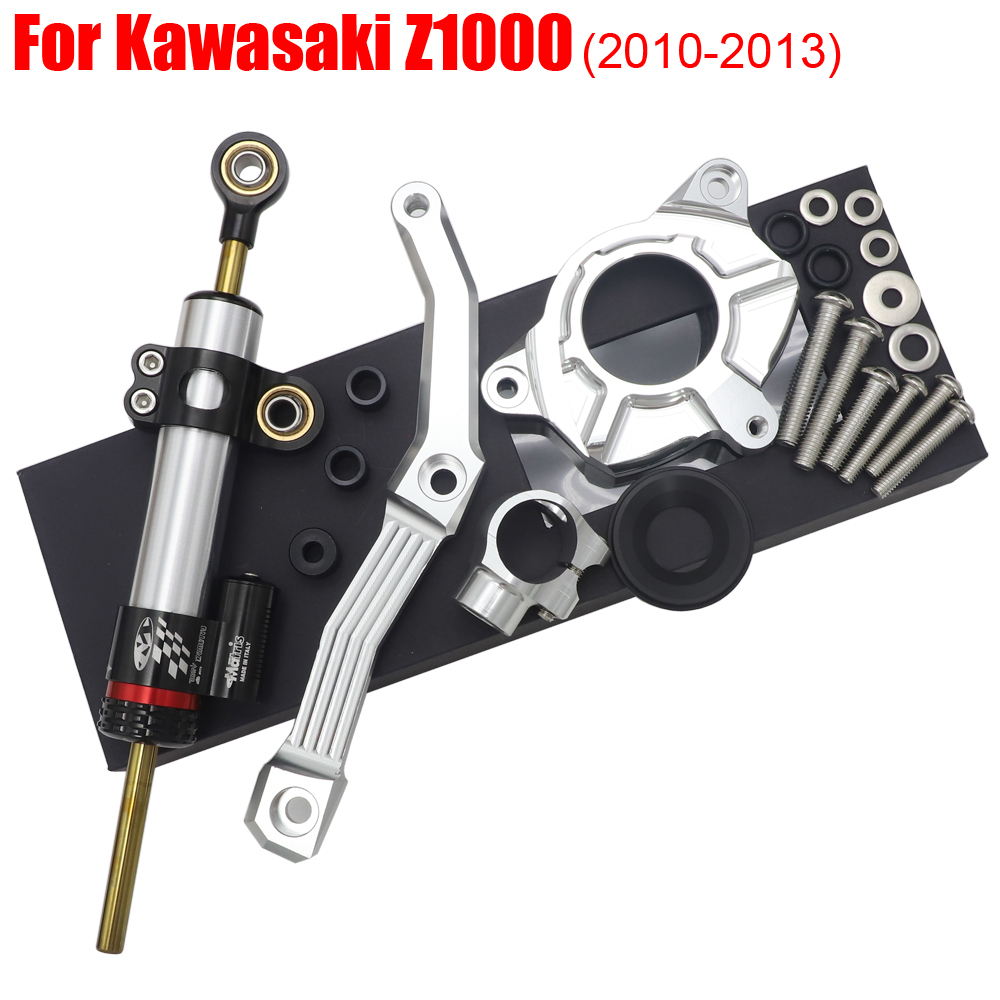 High quality Motorcycle Steering Damper Stabilizer & Bracket For <font><b>KAWASAKI</b></font> <font><b>Z1000</b></font> Z 1000 <font><b>2010</b></font> 2011 2012 2013 10 11 12 13 image