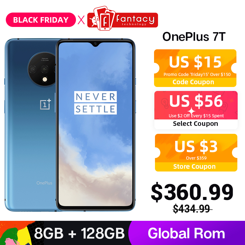 Global ROM OnePlus 7T 7 T 8GB 128GB Smartphone Snapdragon 855 Plus Octa Core 90Hz AMOLED