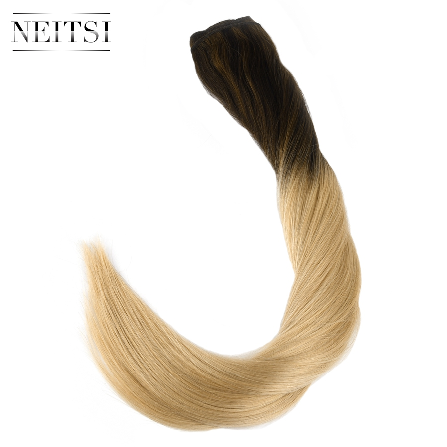 Neitsi Straight Double Drawn Remy Human Hair Weave Extensions 22