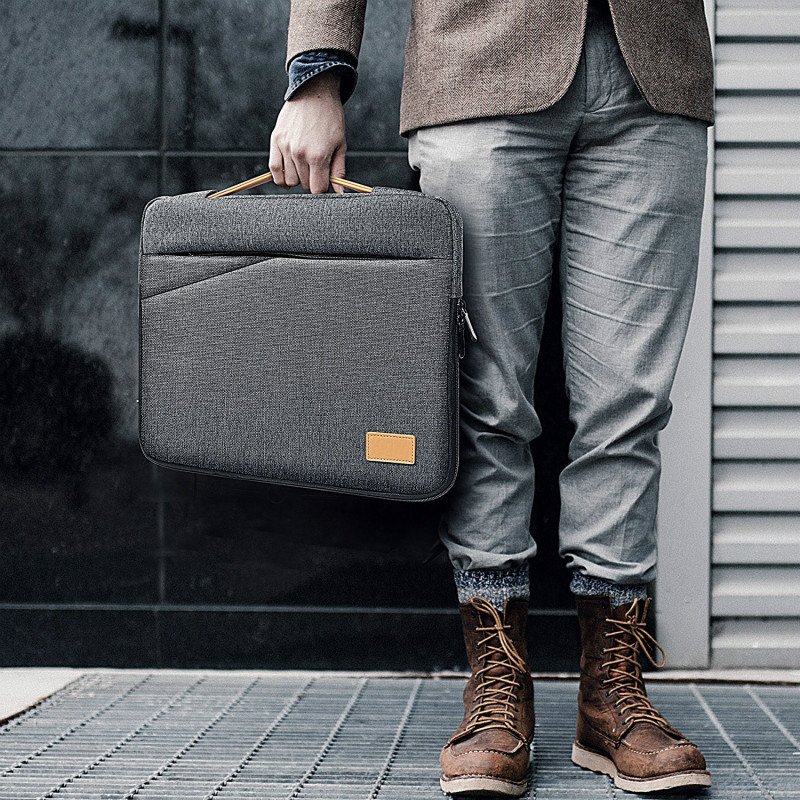 Portafolio Office Laptop Bag Men Briefcase 13 13.3 14 15 15.6 Inch Laptop Messenger Bags Thin Notebook Tote For Macbook Pro Case