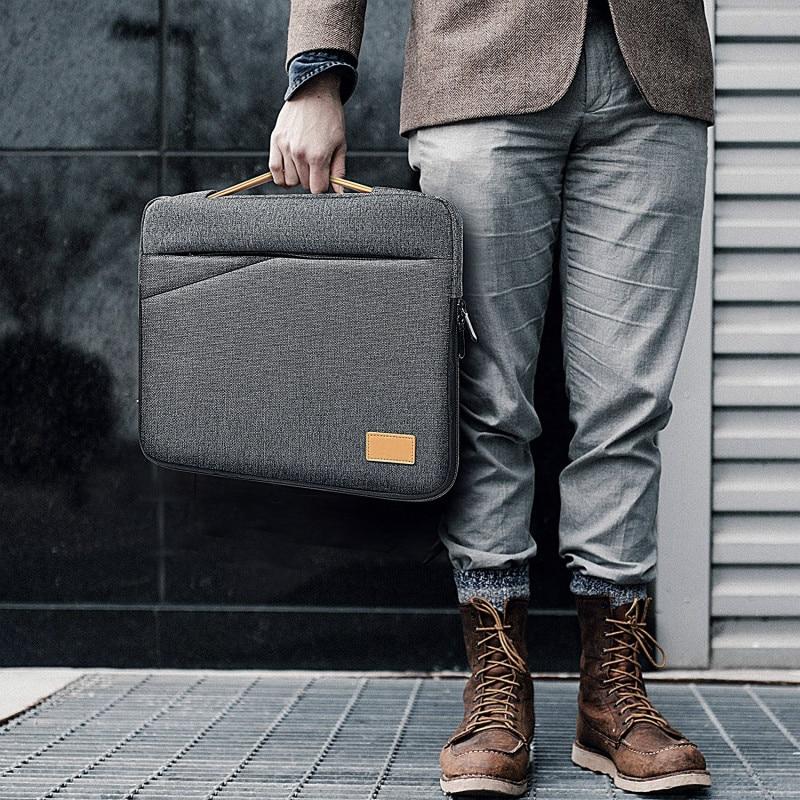 Portafolio Office Laptop Bag Men Briefcase 13 13.3 14 15 15.6 Inch Laptop Messenger Bags Thin Notebook Tote For Macbook Pro Case