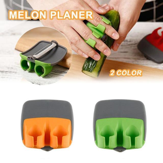 Two-finger Fruit Peeler Anti-cut Hand Planer Vegetables Gadget Protective Kitchen Slicer Peeler Peeler Finger F4K1 1