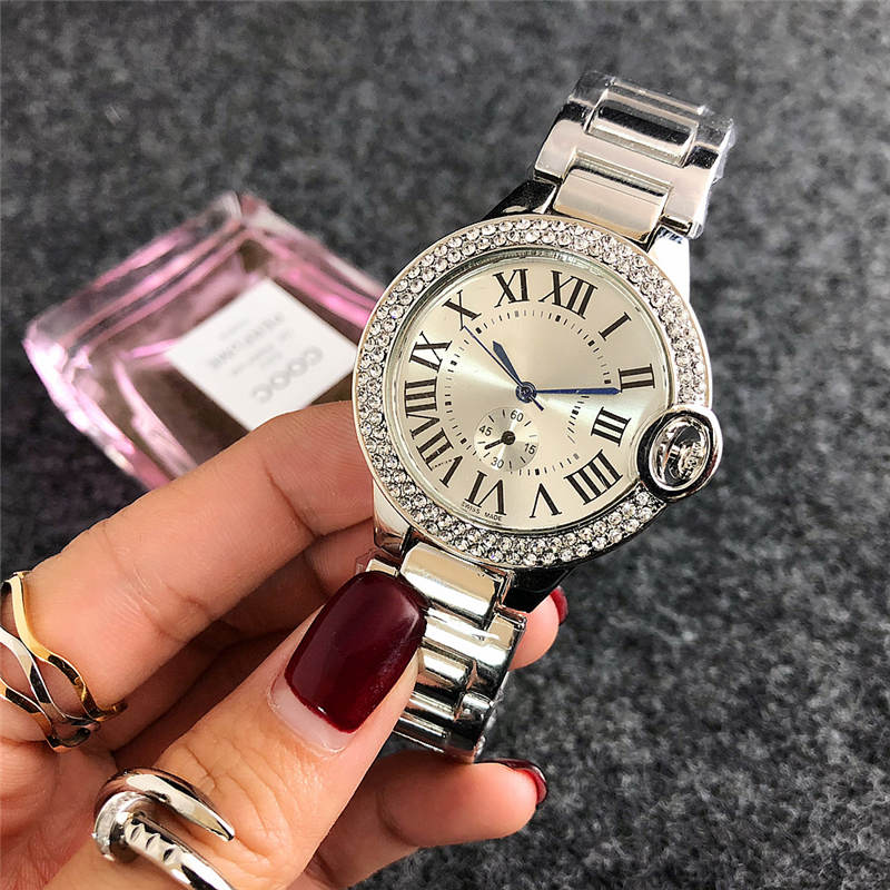 Montre de luxe New brand fashion simple digital Wrist Watch Ladies dress diamond watch luxury women watches silver bracelet cloc(China)