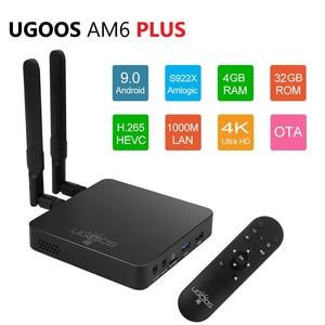 Image 2 - UGOOS AM6 Plus Amlogic Smart Android 9.0 TV Box DDR4 4GB RAM 32GB ROM 2.4G 5G WiFi 1000M LAN Bluetooth 4K HD Media Player
