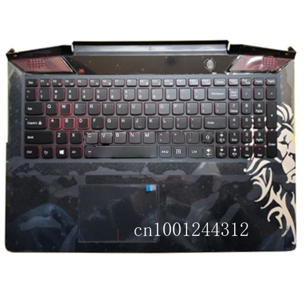 New For Lenovo Ideapad Y700-15 Y700-15isk Y700 Touch-15ISK US Palmrest Upper Case Keyboard Bezel Cover Touchpad 5CB0K97423