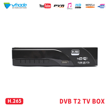 Vmade T2 DVB full HD 1080P de Alta Defenition Digital Terrestrial Receiver H.265 HEVC MPEG 4 porta USB 2.0 suporte Dolby AC3 Youtube