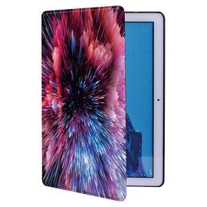 Etui na Tablet do Huawei MediaPad T3 8.0/T3 10 9.6 cala/T5 10 10.1 cala PU skórzany stojak na Tablet (ze wzorami przestrzeni) + długopis