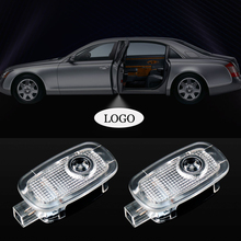 1Pair LED Car Door Light Logo Projector Welcome For Mercedes Benz W221 W216 W169 S63 S65 S500 Interior Accessories