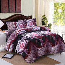 Goang 3D bed set 2 people luxury Christmas gift Bedding Set Double Duvet Cover Comforter Bed Set Gifts AU USA Size Queen King(China)