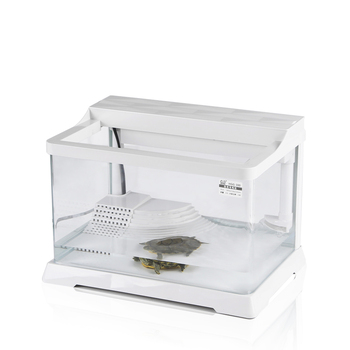 Creative Turtle Tank with Balcony  Special Amphibious  Home  Villa Glass Small Fish  Tortoise House