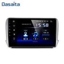 """Dasaita 10.2 """"jogador de gps do carro de android 10 para peugeot 208 & 2008 2012 2016 com núcleo octa 4gb ram rádio automático multimídia gps navi 4g"""