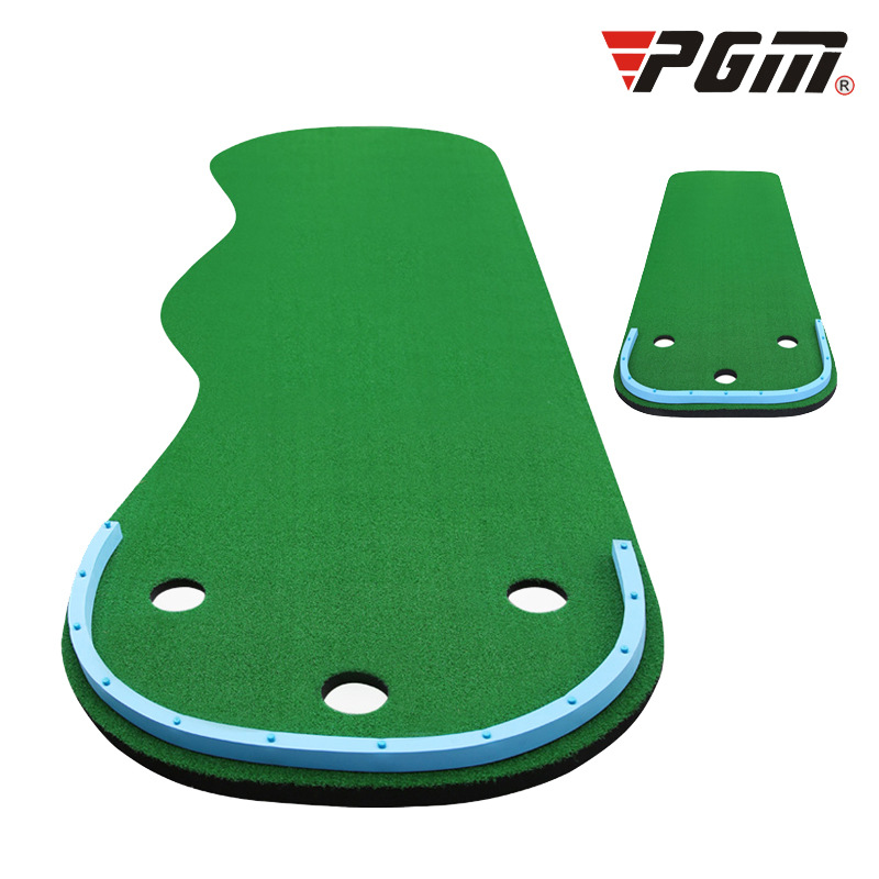Portable Indoor Golf Put Trainer Golf Practice Blanket Artificial Grass Mini Golf Green Beginners Family Practicing Set