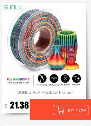 Sunlu tpu 0.5kg filamento flexível com cor