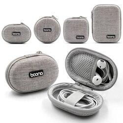 Pequeno oval sacos de armazenamento do fone de ouvido saco organizador cabo dados casca dura mini tecnologia gadgets caso portátil carregador u disk zíper bolsa