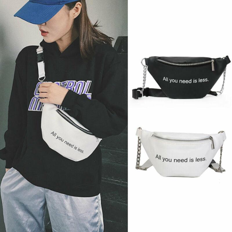 Women Fashion Letter PU Waist Fanny Pack Belt Bag Travel Hip Bum Bag Small Purse Chest Pouch NEW
