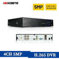 HKIXDISTE 4CH CCTV DVR Recorder AHD 5MP P2P DVR System H.265 Video Surveillance For Analog AHD TVI CVI IP Camera VGA HDMI Output