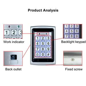 Image 3 - OBO In Metallo Impermeabile Rfid Tastiera di Controllo di Accesso Lettore di Bordo + 10pcs Portachiavi Per RFID Porta di Accesso Sistema di Controllo WG26 Retroilluminazione