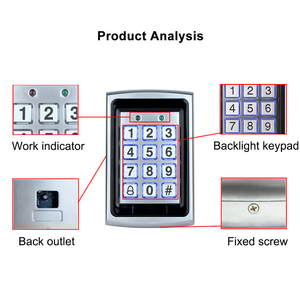 Image 3 - OBO panneau de contrôle daccès Rfid en métal, 10 pièces, clavier pour système de contrôle daccès RFID WG26, rétroéclairage