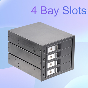 Uneatop 3.5in SATA aluminum 4-bay slots tray-less mobile rack for optical drive bay hdd Internal Backplane Enclosure