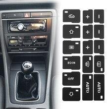 1x condición de aire del coche AC Control botón pegatinas para reparar calcomanías para Audi A4 B6 B7 2000, 2001, 2002, 2003, 2004