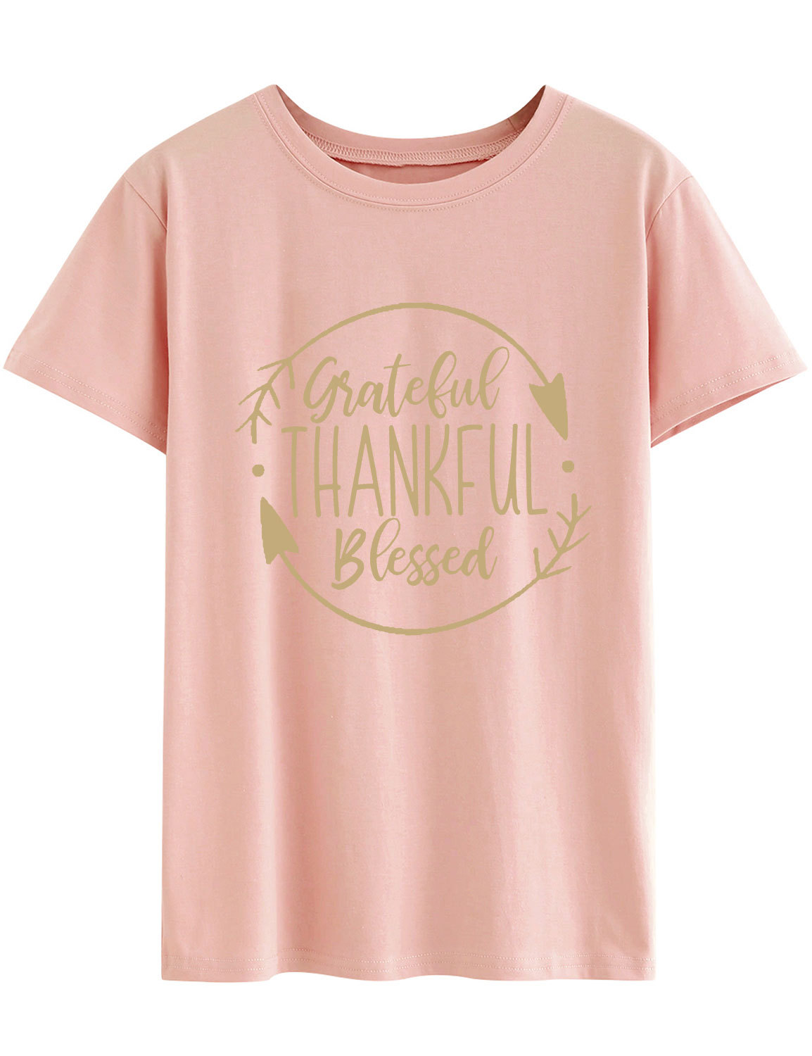 grateful thankful blessed tshirt 90s punk pink womens clothing christmas graphic tees women vintage streetwear aesthetic