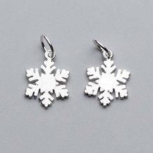 925 srebro fantazyjne śnieg Charms 14x12mm świąteczne dekoracje wisiorki/biżuteria do własnoręcznego wykonania Making kobiety kolczyki bransoletki odzież
