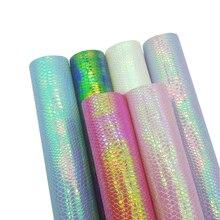 22*30 см синтетические кожаные листы змеиная блестящая А4 искусственная ткань Синтетический бант для волос Ткань DIY сумка Аксессуары для обуви синтетическая кожа