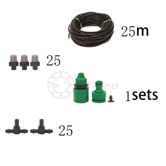 Bagnatura e la rimozione della polvere atomizzazione giardino impianto automatico waterer spray di raffreddamento dispositivo di sistema di irrigazione irrigazione vestito pigro 6