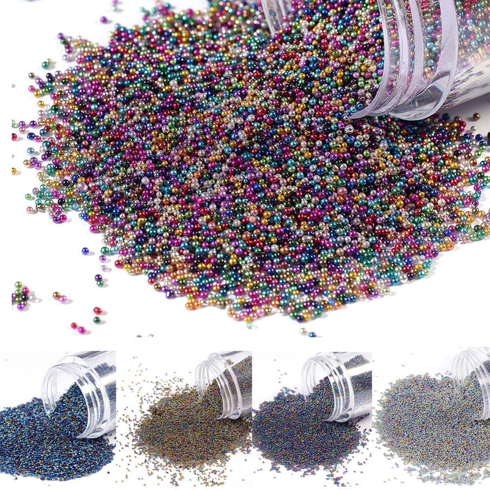 DIY 3D Nail Art Decoration Mini Round Glass Beads Tiny Caviar