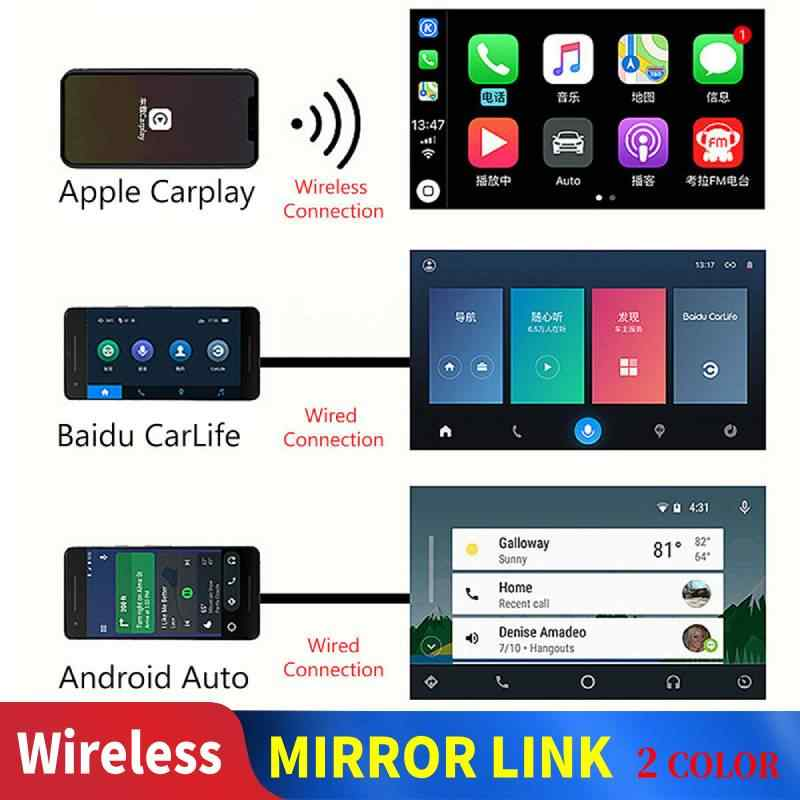 Carlinkit Carplay A3 Nirkabel untuk Apple Carplay Adaptor Android Auto Dongle Bermain Mobil Iphone Mobil Wifi Birutoot Mimi Cermin Link