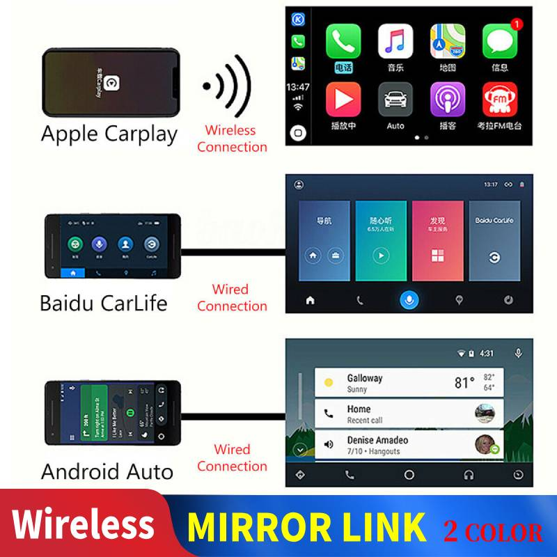 Carlinkit Wireless Carplay for Apple Carplay Dongle Android Auto CarPlay for Android Navigation USB Player Mirrorlink Black
