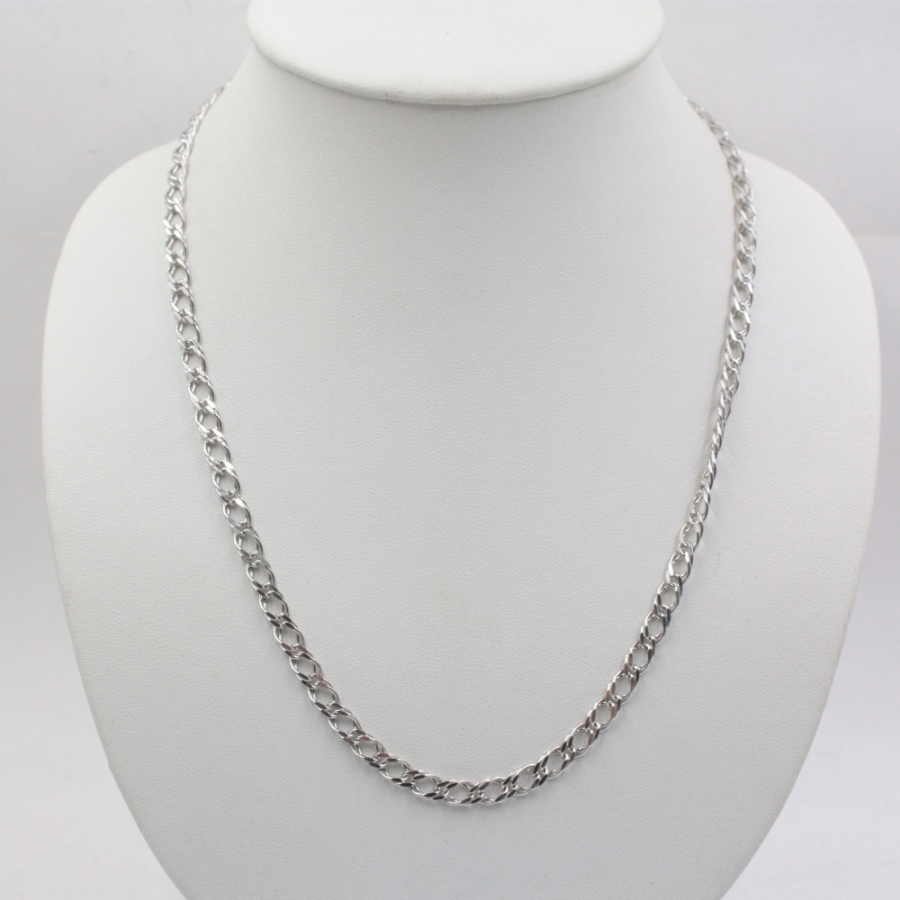 31.5 inch Pure 925 Sterling Silver Necklace 5mm Rolo Link Chain Necklace S925