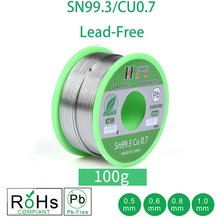 100g עופרת חינם הלחמה חוט 0.5 1.0mm נטול עופרת עופרת משלוח רוזין Core עבור חשמל הלחמה RoHs