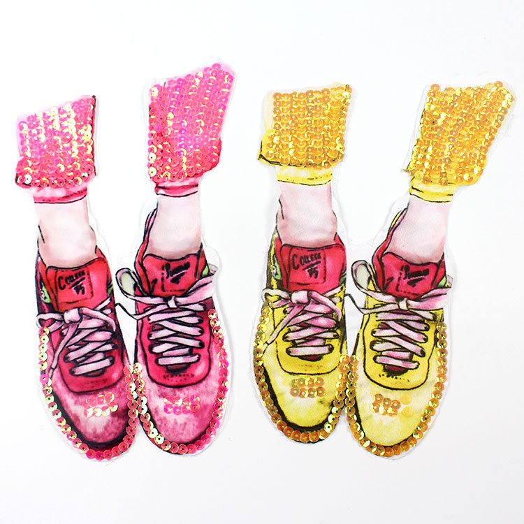Clothing Accessories Beads Embroidered Sequins Patch Clothes Diy Decoration Large Decals Shoes Cloth Stickers