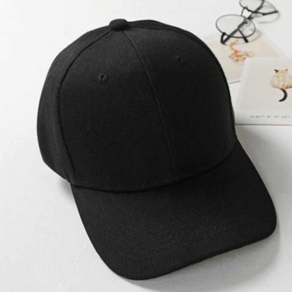 Été 2019 tout nouveau coton hommes chapeau panneau lumineux couleur unie unisexe femmes hommes chapeaux casquette de Baseball ajusté Snapback casquettes décontractées # ZD